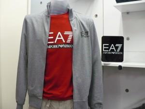 EA7 felpa cot. elast. + t-shirt manica lunga