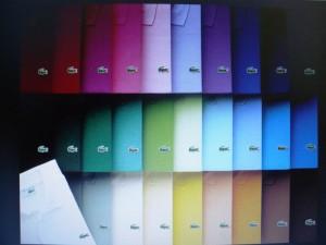 Lacoste una tavolozza di colori