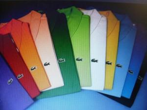 Lacoste .. i colori dell'arcobaleno