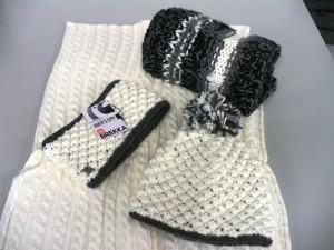 fascia + berretto + sciarpa